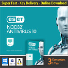 ESET NOD32 AntiVirus 2018 Latest, 1 or 3 PCs / 1 Year - License in eBay Message
