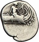 HISTIAIA Euboia 300BC  Ancient Greek Coin RARE Nymph on Ship Galley  i23500