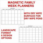 Magnetic Dry Wipe Family Planners + Dry Wipe Pen - Planners with Custom Designs