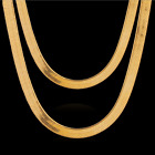 men fashion necklace - Fashion Men Women 18K Gold Plated Snake Chain Choker Necklace Jewelry 3/4/5MM