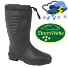 Stormwells Tie Top Polar Wellington Boots Water Resistant Thermal lined Wellies