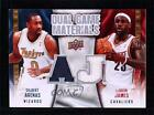 2009-10 Upper Deck Dual Game Materials #DG-AJ Gilbert Arenas Lebron James LeBron <br/> Fulfilled by COMC - World's largest consignment service