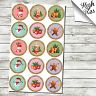 """CHRISTMAS 1.5"""" & 2"""" ROUND EDIBLE CUPCAKE TOPPERS"""