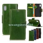 New Matte Genuine Leather Wallet Bag Flip Stand Case Card Slot Cover for iPhone