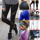Women High Waist Fitness Yoga Mesh Leggings Sport Gym Runnin