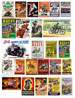 1:18 1:24 MOTORCYCLE  RACING POSTERS DECAL FOR DIECAST & OTHER DIORAMAS