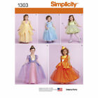 1303 UNCUT Toddler Princess Costume Sewing Pattern: Belle Cinderella Tinkerbell
