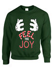 NEW Adult Sweatshirt Feel The Joy Cute Christmas Gift Holiday Top