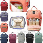 Mummy Baby Maternity Diaper Bag Nappy Changing Large Capacity Travel Backpack US