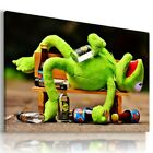 FROG KERMIT Wild And Domestic Animals Canvas Wall Art Picture Large AN324 X