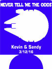 star wars Wedding coozie no minimum never tell me the odds can coolers $24.99 USD on eBay