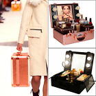 makeup professional case - Professional Makeup Train Case Travel Cosmetic Suitcase with Mirror