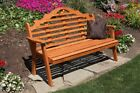 A&l Furniture Co. Amish-made Cedar Marlboro Garden Benches - 9 Stain Options