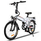 Folding Mountain Bike Electric Cycling Bicycle Aluminum 250W 7-speed 21-speed