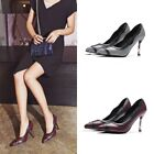 Womens Pointed Toe Slim High Heels Sexy Printing Stilettos Slip on Formal Shoes