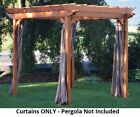 A&L Furniture Co. Weather-Resistant Acrylic Pergola Curtains, Hooks Included