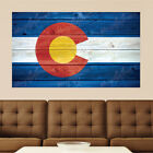 Colorado Languish Distressed Wood Vinyl Wall Decal Sticker Graphic Art - 4 Sizes