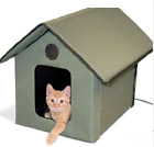 Waterproof Cat Shelter Insulated Feral Outdoor Unheated Heated Portable House