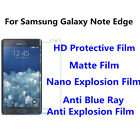 3pcsFor Samsung Galaxy Note Edge High Clear/Matte/Anti Blue Ray Screen Protector