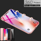 For Apple iPhone X /10 Ultra Hard Cover+ Tempered Glass 360° Full Protect Case  iphone x cases 360 2325455314104040 5