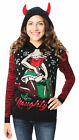 Ugly Christmas Sweater Women's Naughty Present Hooded Sweater-XS