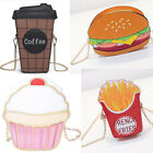 Внешний вид - 3D Purse Coffee Hamburger Cupcake Popcorn Unicorn Shoulder Bag Messenger Handbag