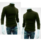 Fashion Mens Casual Turtle Neck Pullover Slim Fit Long Sleeve Tops T-shirt vip