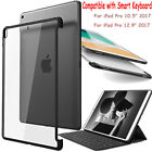 """New iPad Pro 10.5"""" 12.9"""" 2017 Case Ultra Slim Shockproof Hybrid Hard Clear Cover"""