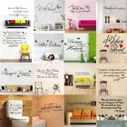 Family Diy Removable Art Vinyl Quote Wall Stickers Mural Home Kids Decor Decal