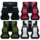 Fits 2003 to 2006 Jeep Wrangler Jeep Paw Prints Seat Covers 22 Color Options