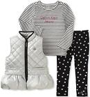 Calvin Klein Girls Silver Vest 3pc Legging Set Size 2T 3T 4T 4 5 6 6X