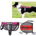 Pet Service Dog Reflective Vest Mesh Coat Therapy Harness with Removable Patches