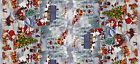 CHRISTMAS NIGHT BLUE VINYL PVC OILCLOTH WIPE CLEAN TABLECLOTH click for sizes
