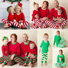 Christmas Family Matching Pajamas Set Women Man Nightwear Parent-Kid Sleepwear