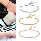 Women's Crystal Rhinestone 18K Gold Plated Bangles Bracelet Jewelry Adjustable