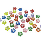 80PCS 7MM DOUBLE SIDED SINGLE DRILL TRANSLUCENT STAR SHAPED BEADS - UK SELLER