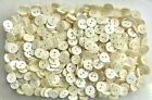 Small 14mm 22L Ivory White Pearlescent 2 Hole Buttons Craft Child Buttons (K49)