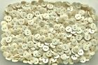 Small 12mm 20L Light Cream Pearlescent 2 Hole Quality Shirt Baby Buttons (K50)