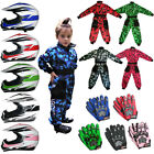LEOPARD LEOX16 Kids Motocross Helmet Camo Race Suit Overalls Glove Quad Off Road