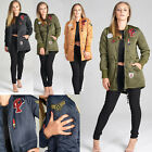 Ladies QUILTED PADDED PUFFER JACKET Bubble Fur Collar Warm Thick Womens Coat TOP