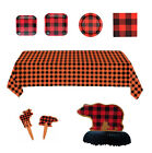 Buffalo Plaid Party Ware - Set or Separates - Decorations for a Celebration fnt