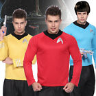 Mens Star Trek T-Shirt Top Blouse Captain Scotty Kirk Spock Sci Fi Fancy Dress on eBay