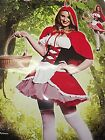 SEXY NEW HOT RIDING HOOD CHRISTMAS OUTFIT ROLEPLAY DRESS UP SET M - XL RRP£34