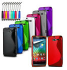 BQ Aquaris M4 5 - Wave S-Line Gel Silicone Rubber Case Cover & Mini Pen