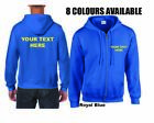 Personalised Zipped Hoodies Custom Printed Hoodies Unisex Mens Ladies Zip Front