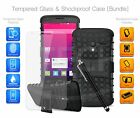 For Huawei Honor Holly 3 - Shockproof Rugged Strong Case Cover, Glass & Pen