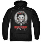 Betty Boop Born To Ride Pullover Hoodies for Men or Kids $25.25 USD