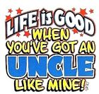 Uncle good life kid TShirt robber baby shower birthday xmas gift US size z
