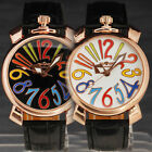 STYLISH MEN Girl Golden Big Number Crown Lovely Dial Auto Mechanical Watch