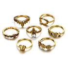 Bohemian Ring Set Boho Gypsy Hippy Vintage Jewellery Silver Rings Sets Cute Gift